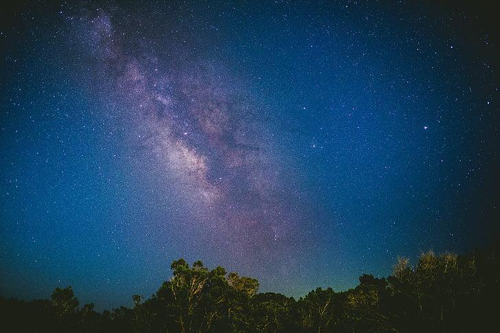 blå, himmelen, stjerner, nightime, skyen, Star, Star cloud