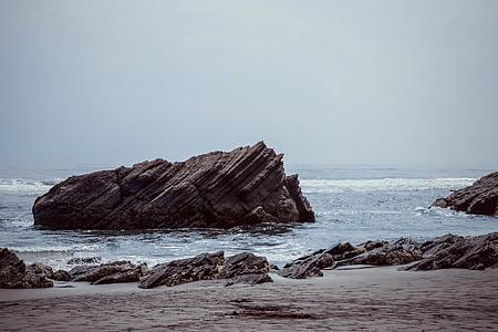 zee, Oceaan, water, landschap, Rock, natuurlijke, strand