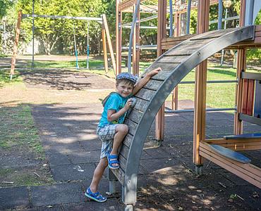 boy, playground, happy, child, childhood, kids playground, little