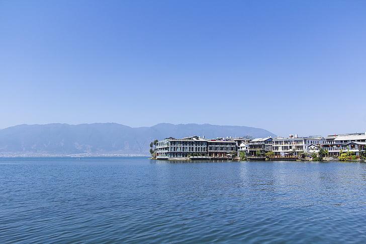 Erhai sjö, Dali, byn