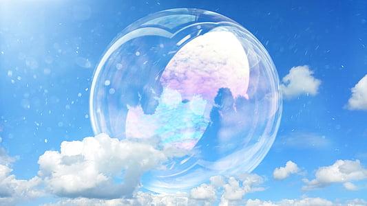cel, blau, núvols, cel blau, blau cel, ennuvolat, natura