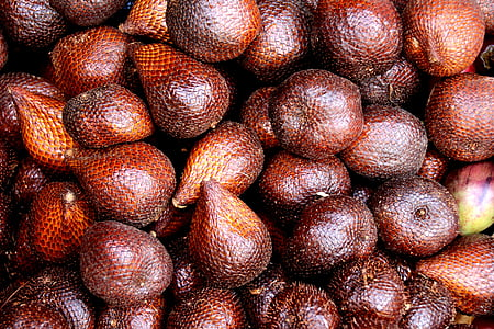 salak, snake fruit, snakeskin fruit, salacca zalacca, brown fruit, exotic fruits