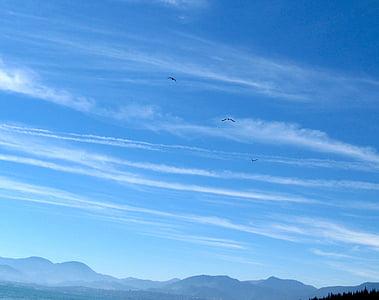 небе, облаците, синьо, на открито, живописна, спокойно, стратосферата