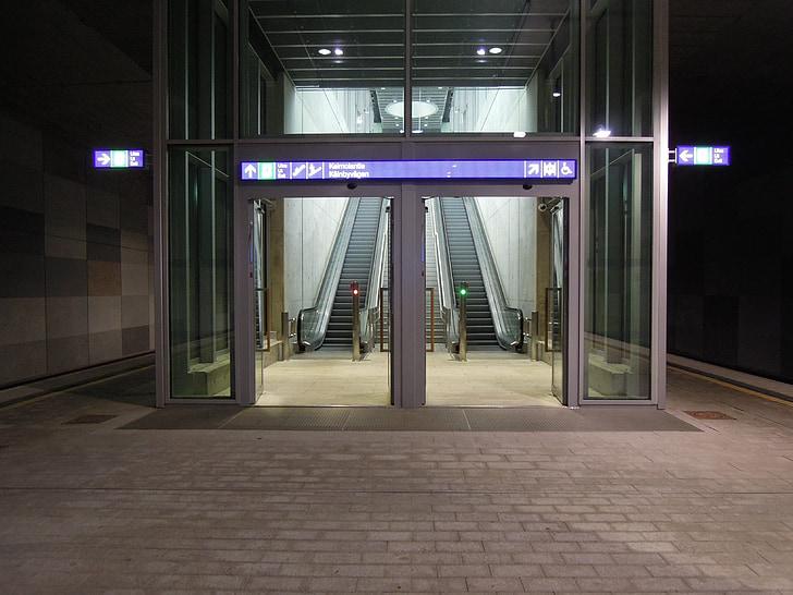 k, station, vantaa, door, the doors of the, the escalator, the train-station