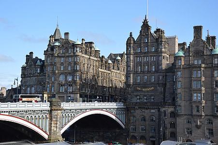 scotland, edinburgh, old town, bridge