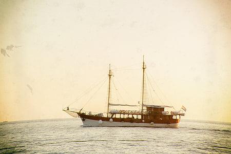 boat, ship, ocean, sea, water, nautical Vessel, sailing Ship