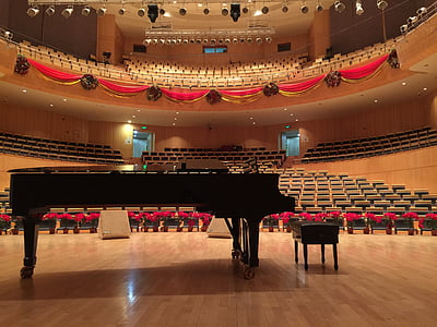 piano, concert hall, steinway, music, stage - Performance Space, performance, classical Concert