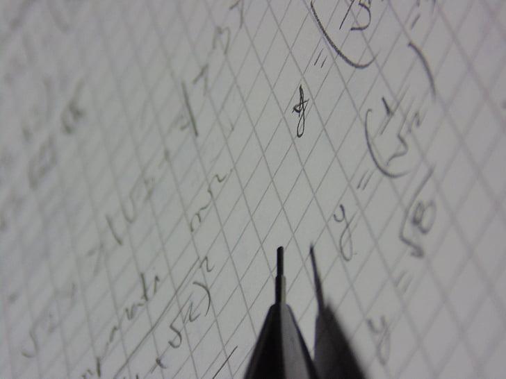 caderno de matemática, exercício, Tema, lapiseira