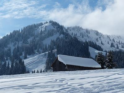 wintry, winter magic, snow magic, snow, nice weather, white, hut