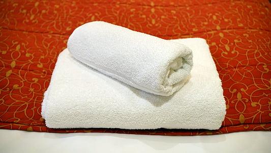 рушник, білий, розкіш, інтер'єр, комфортно, кімната, Готель
