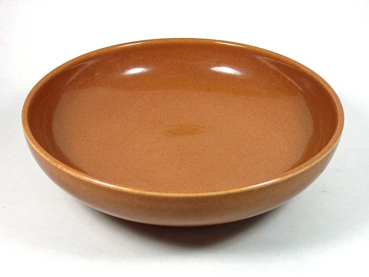 Russel wright, Xina iroqueses, ceràmica, nou moscada, bol 8, bol marró
