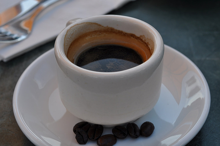 koffie, Espresso, Beker, hete, drank, drankje, cappuccino