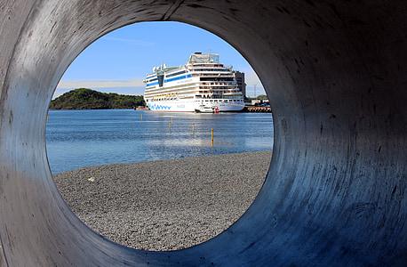 Oslo, Norge, hamn, Oslofjorden, staden, fartyg, Scandinavia