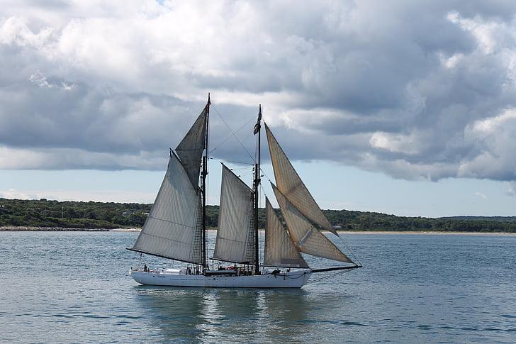 segelbåt, fartyg, nautisk, segling, båt
