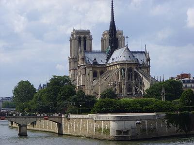 Notre-dame, Catedral, París, l'església, arquitectura, gòtic, punt de referència