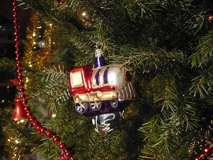 jõulupuu, teenetemärgid, ornament, klaas, Auruvedur, kinni panna, Holiday