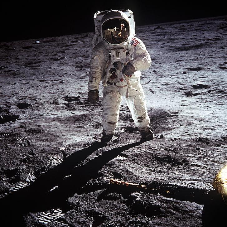 moon landing, apollo 11, nasa, buzz aldrin, 1969, astronaut, space