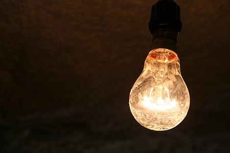 glödlampa, ljus, energi, glödtråden, elektricitet, elektriska, glödlampa