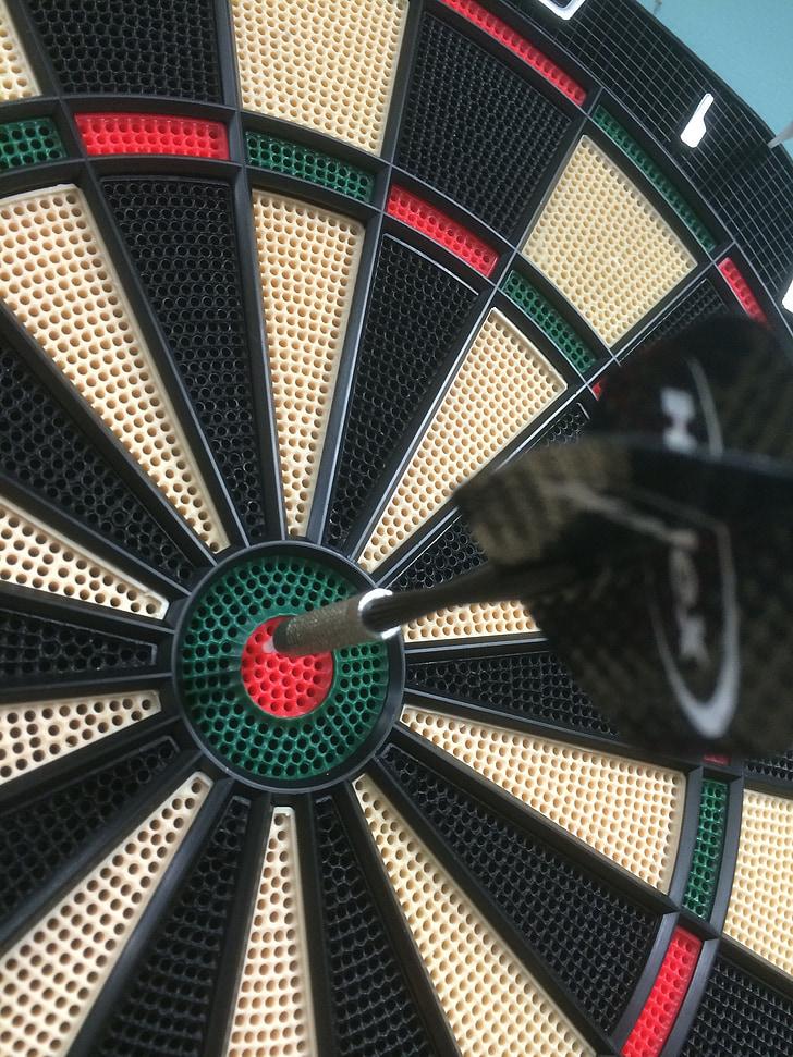Bullseye, Jeux de fléchettes, jeu, objectif, succès, objectif, jeu de fléchettes