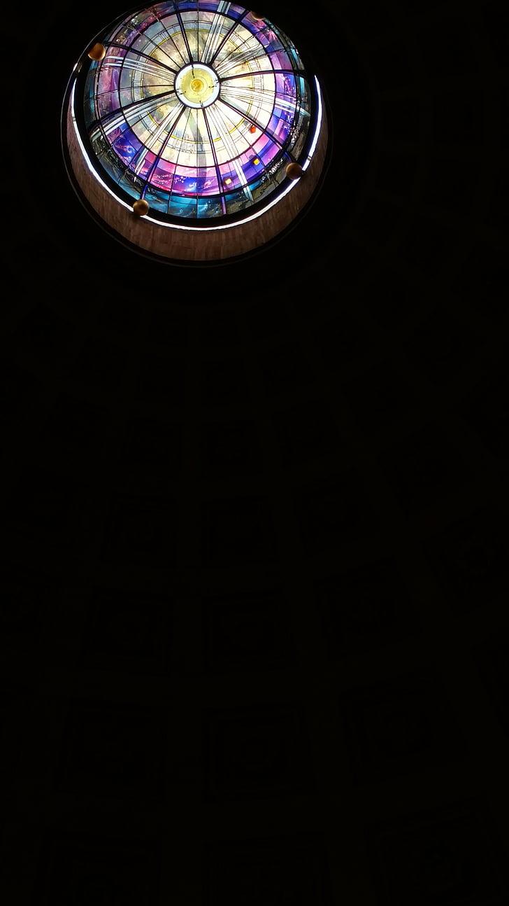 taca de vidre, finestra, l'església, vidrieres, Vitrall, vidre, vitralls
