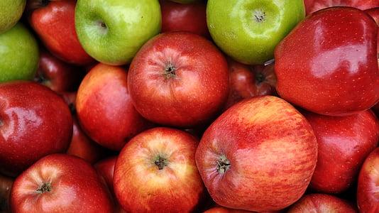 puu, roheline õun, toidu, punane õun
