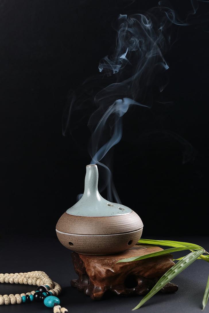θυμίαμα, παραδοσιακό, καπνός, Κίνα, Ζεν, ο διαλογισμός, γεύση