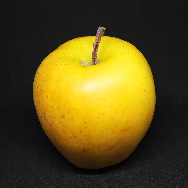 pomme, fruits, pommes, fruits, aliments, Or, pomme jaune