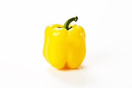 kollane, pipar, kollane pipar, taimne