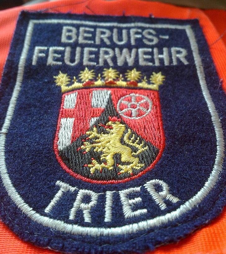 fire, logo, trier, sachsen, professional fire brigade