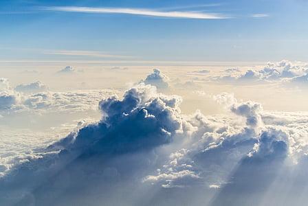 pilvet, taivas, korkeus, Sää, sininen, Ilmastointi, ympäristö