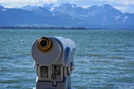 telescope, view, distant, binoculars, distant view, viewpoint, outlook