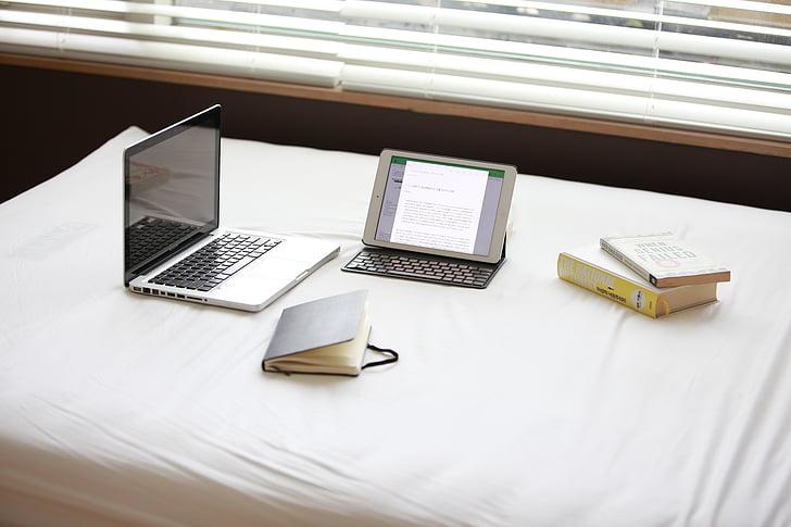 portàtil, Llibreta, llibre, tecnologia, ordinador, llança, pantalla de portàtils