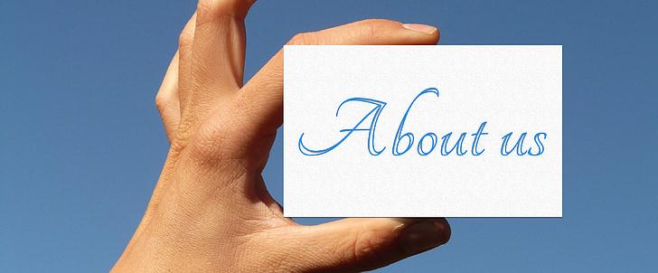 Impressum, Informatie, kaart, hand, vinger, houden, toegang