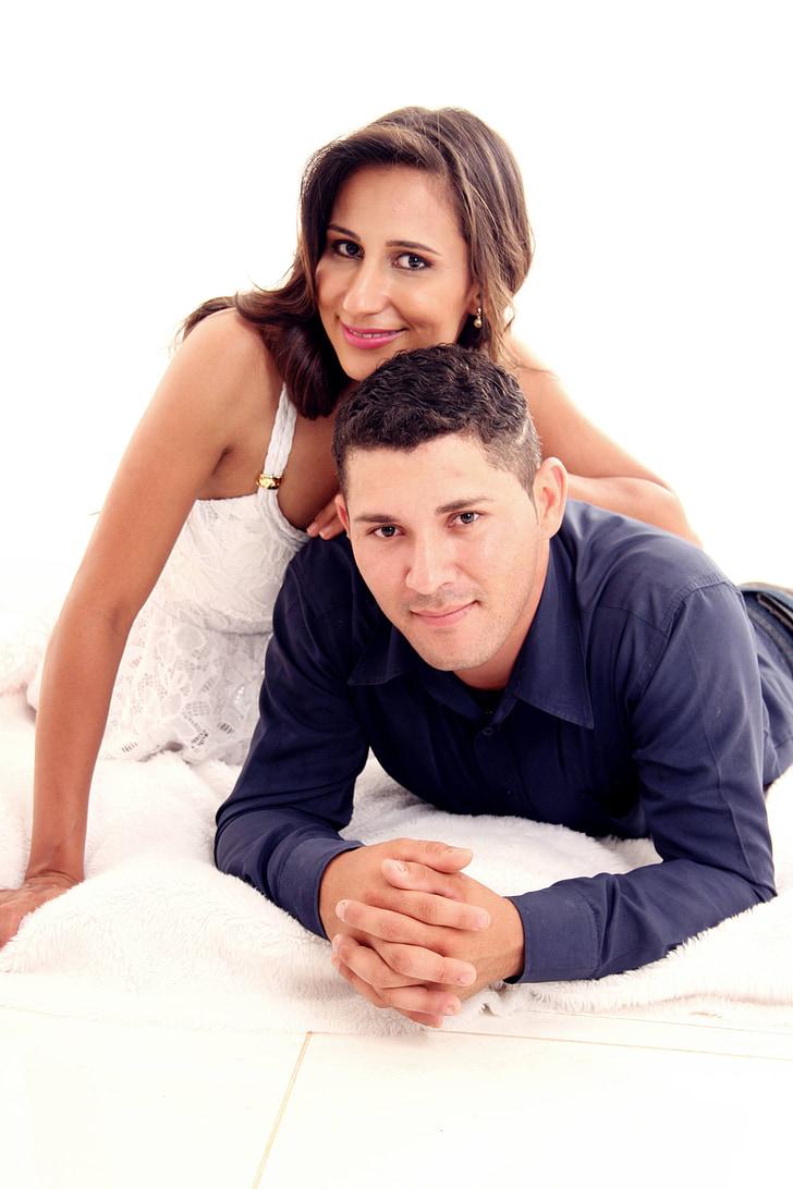 l'amor, matrimoni, complicitat, romàntic, feliç parella, nuvis, nuvis