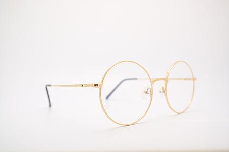 γυαλιά οράσεως, γυαλιά ηλίου, γυαλιά, χρυσό, Ύαλοι στρογγυλοί, γυαλιά οράσεως