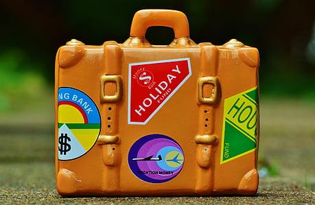 luggage, travel, holiday, go away, travel fund, holidays
