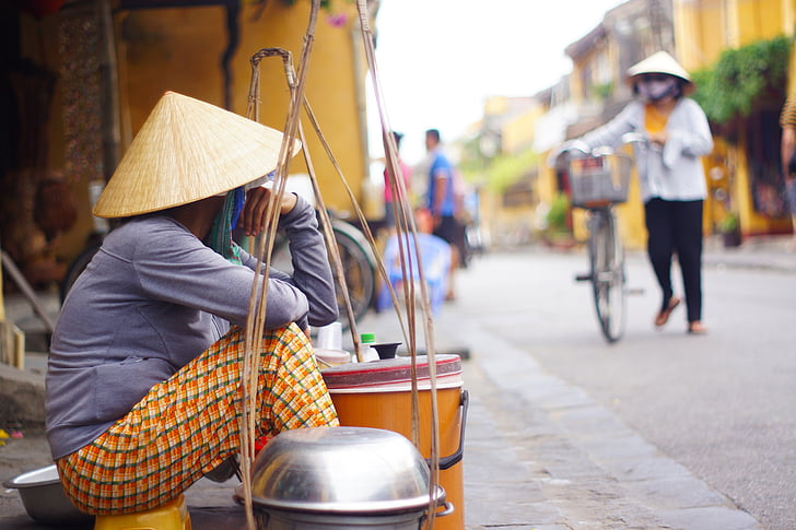 vietnamese, vendor, seller, street, people, cultures, urban Scene