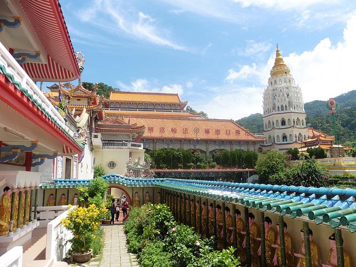 malaysia, penang, asia, temple, sky