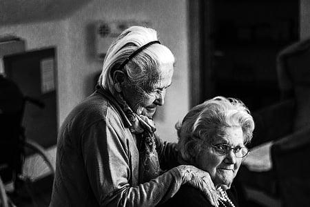 donne, donna, anziani, donne anziane, cura, umano, nonna