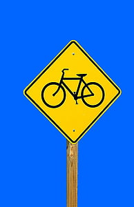 bike sign, share the road, symbol, warning, bike, sign, road