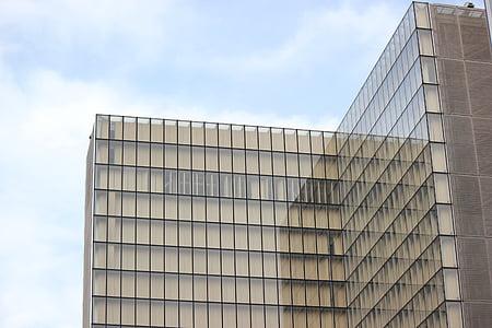 arhitektuur, hoone, äri, klaas, fassaad, City, akna