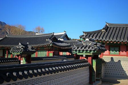 Palau de Gyeongbok, el Palau Reial, Seül, Corea del, tradicional, arquitectura, Àsia
