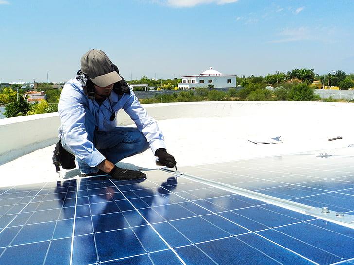 Солнечный, Фотоэлектрические, Энергия, возобновляемые источники, электричество, альтернатива, Грин