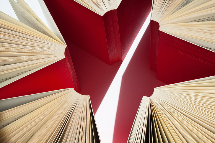 books, pages, expanded, star, red, sigmund freud, student's edition
