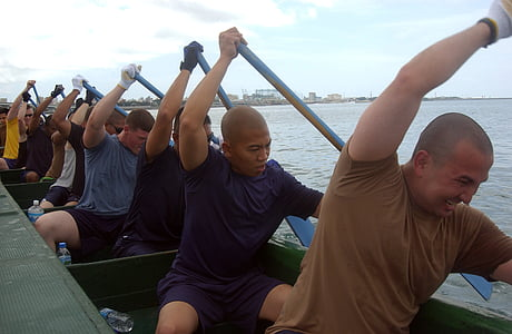 rowing team, dragon boat, teamwork, cooperation, competition, row, water