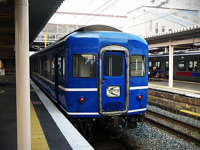 Japan, tåg, Sleeper, Express, Blå tåget, Hayabusa, nostalgisk