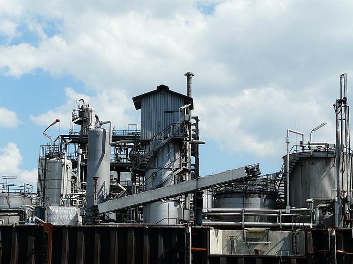 indústria, màquines, producció, planta industrial, processament, fàbrica, refineria