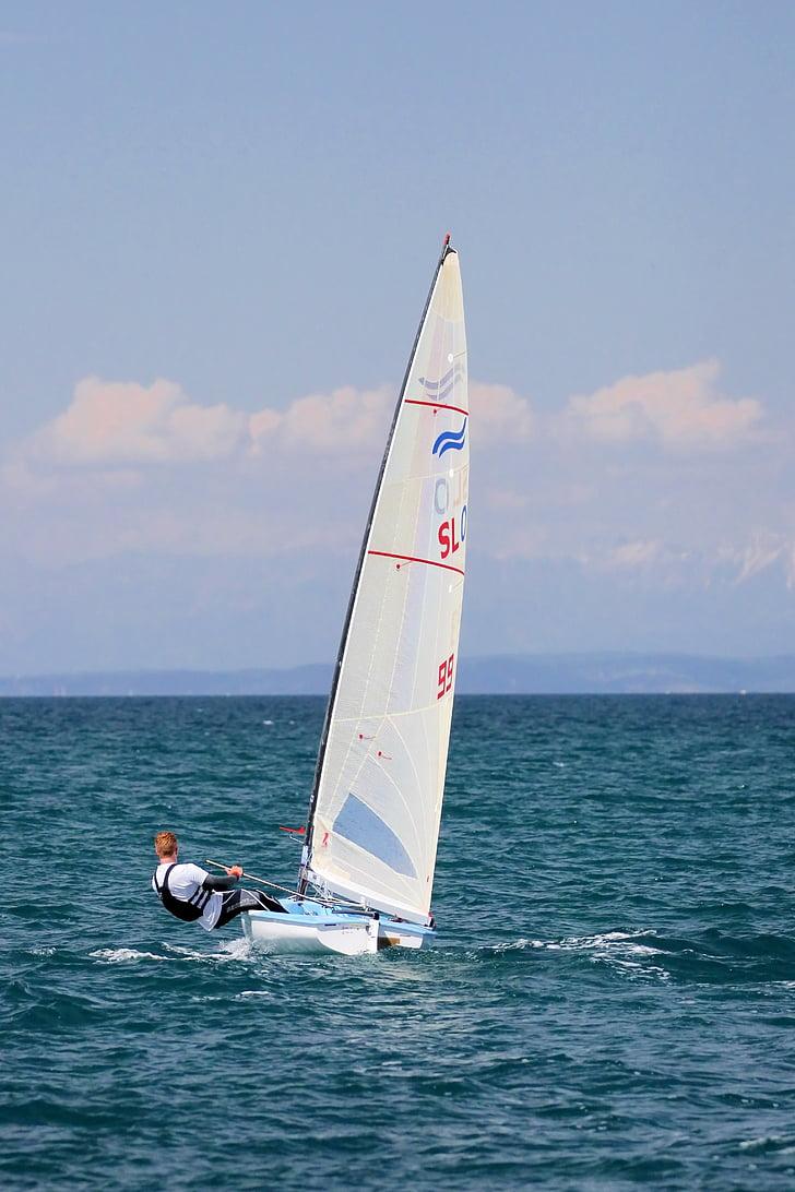 segling, Finn, segelbåt, idrott, jolle
