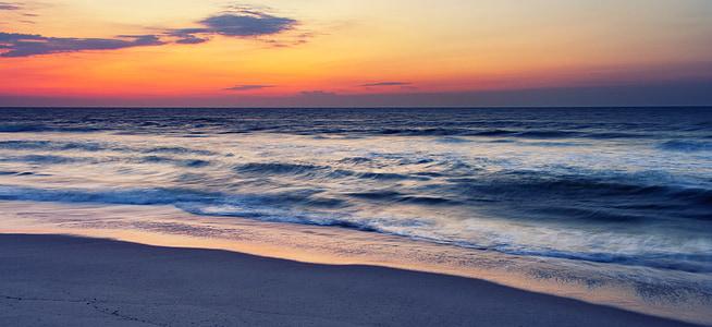 Ocean sunrise, soluppgång, Ocean, havet, solnedgång, stranden, vatten
