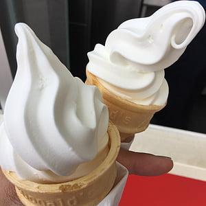 ice cream, cones, whipped ice cream, whipped, ice cream cone, dessert, sweet